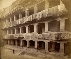 Front of Tin Thal [Buddhist Cave XII, Ellora]